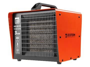 Нагреватель воздуха электр. Ecoterm EHC-03/1D (кубик, 3 кВт, 220 В, термостат, керамический элемент PTC), Китай