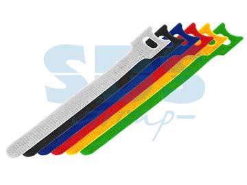 Набор хомутов многоразовых на липучке 210 x 16 мм, цветная (упак. 12 шт) REXANT, Китай 07-7210
