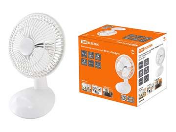 """Вентилятор настольный ВС-01 """"Тайфун"""" D15 см, 15 Вт, 230 В, белый, TDM, Китай"""