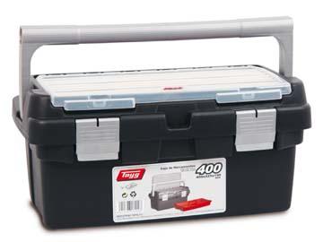 Ящик для инструмента пластмассовый 40x22, 5x19см (с лотком) (TAYG), Испания