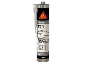 Клей-герметик полиуретановый Sikaflex-221 серый 300 мл, Швейцария