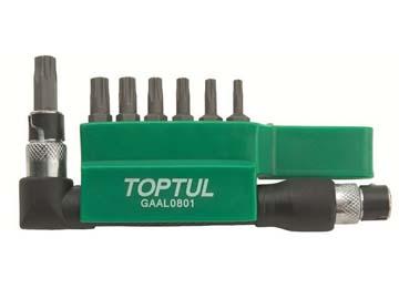 "Набор бит ""TORX"" 1/4"" Т10-Т40 30мм 8шт TOPTUL, Тайвань GAAL0801"