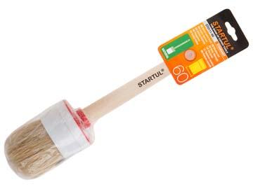 Кисть круглая №18-60мм STARTUL STANDART (малярная для ЛКМ на масляной основе, густых лаков, олифы, эмалей), Китай