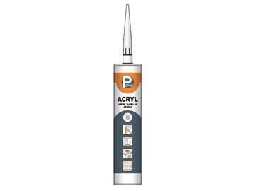 Герметик акриловый P PLUS Acryl (бел.) 280мл, Нидерланды