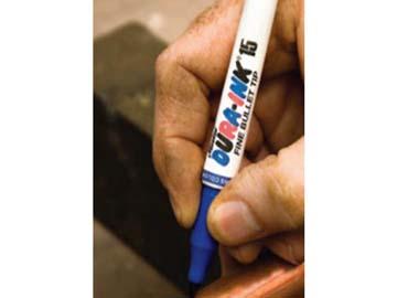 Маркер промышл. перманентный фетровый MARKAL DURA-INK 15 СИНИЙ (Толщина линии 1, 5 мм. Цвет синий), Индия