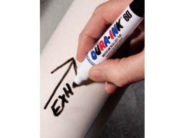 Маркер промышл. перманентный фетровый MARKAL DURA-INK 60 СИНИЙ (Толщина линии 3 мм. Цвет синий), Индия