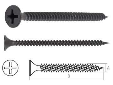 Саморез 3.5х41 мм для монтажа ГКЛ к металлу, фосфат (500 шт в карт. уп.) STARFIX, Китай