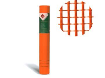 Стеклосетка штукатурная 5х5, 1мх50м, 160, оранжевая, DIY (разрывная нагрузка 1300Н/м2) (LIHTAR), Китай