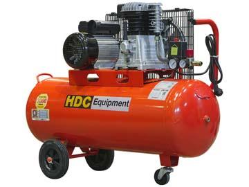 Компрессор HDC HD-A101 (396 л/ мин, 10 атм, ременной, масляный, ресив. 100 л, 220 В, 2.20 кВт), Китай