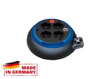 Удлинитель 3м на барабане (4 роз., 3.3кВт, с/ з, ПВС) черно-синий Brennenstuhl Comfort-Line (провод 3х1, 5мм2, сила тока 16А, с/ з - с заземляющим контак, Германия