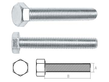 Болт М20х140 мм шестигр., цинк, кл.пр. 5.8, DIN 933 (5 кг) STARFIX, Китай