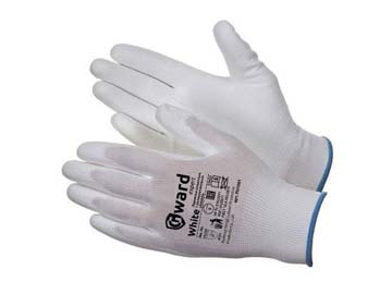 Перчатки нейлон полиуретан. неполн. покрытие 13кл (белые) (р.9), Китай