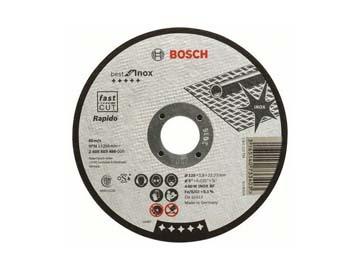 Круг отрезной 125х0.8x22.2 мм для нерж. стали Best BOSCH (прямой, Rapido), Германия