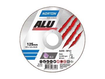 Круг отрезной 125х1.0x22.2 мм для алюминия ALU NORTON (Для алюминия и цветных металлов), Нидерланды