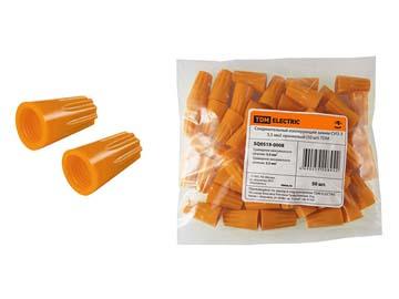Зажим соединительный изолирующий СИЗ-3 5, 5 мм2 оранжевый (50 шт) TDM, Китай