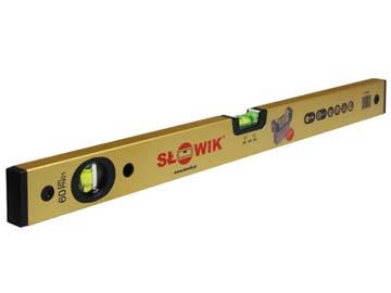Уровень 2000 мм 2 глаз. брусковый, золото PN01 SLOWIK (быт.) (650 гр/м 0.30 мм/м), Польша