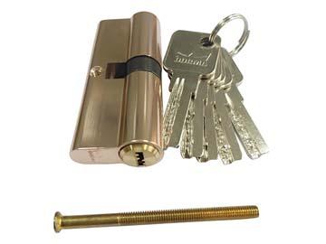 Евроцилиндр DORMA CBR-1 80 (40x40) латунь (перфорированный ключ), Китай