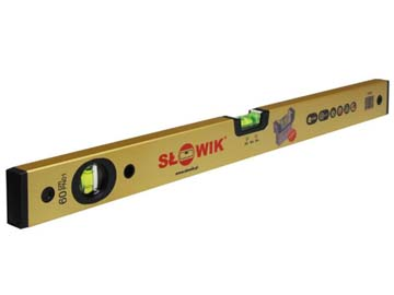Уровень 1000 мм 2 глаз. брусковый, золото PN01 SLOWIK (быт.) (650 гр/м 0.30 мм/м), Польша