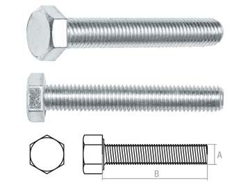 Болт М12х50 мм шестигр., цинк, кл.пр. 5.8, DIN 933 (20 кг) STARFIX, Китай