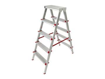 Лестница-стремянка алюм. двухсторонняя 110 см 5 ступ. 4, 2кг PRO STARTUL (ST9941-05), Россия