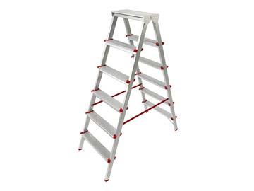 Лестница-стремянка алюм. двухсторонняя 132 см 6 ступ. 5, 0кг PRO STARTUL (ST9941-06), Россия
