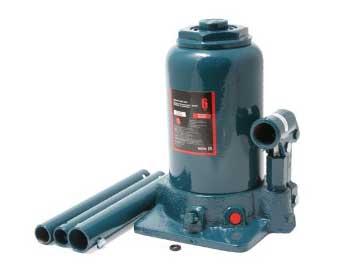 Домкрат бутылочный двухштоковый с клапаном, 6 т (h min 215мм, h max 485мм)