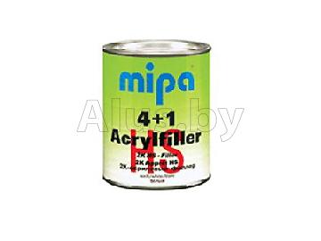 Грунт акриловый 4+1 Acrylfiller HS светло-серый, 1л (отвердитель в комплект не входит)