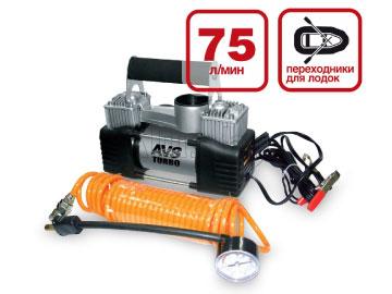 Автомобильный компрессор AVS Turbo KS 750D 80505