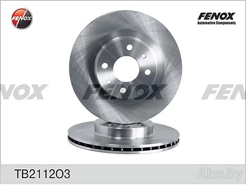 Диск тормозной ВАЗ-2112, 1118, 2170, 2190 R14 вентилир (1шт.) Fenox артикул TB2112O3