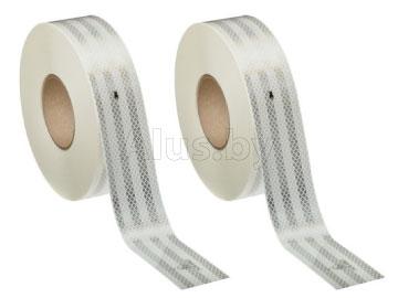 Лента световозвращающая серии 983-10 для маркировки жестких поверхностей белая, размер рулона 55 мм x 50 м