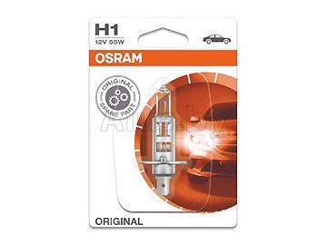 Лампа автомобильная галогеновая H1 12V, 55W, P14.5s (однонитиевая головного света) OSRAM 64150ULT-01B