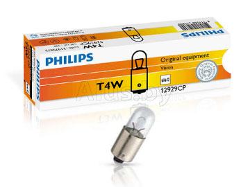 Лампа автомобильная накаливания 12V, T4W, 4W, BA9s