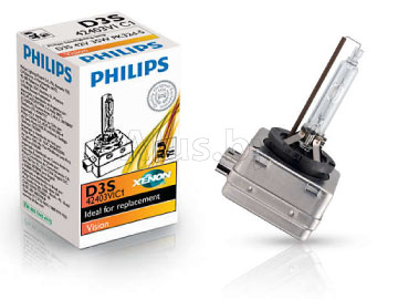 Лампа автомобильная газоразрядная D3S Vision, 42V, 35W, PK32d-5 PHILIPS 42403VIC1
