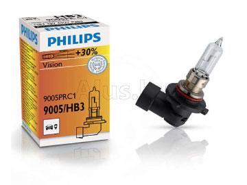 Лампа автомобильная галогеновая HB3 12V, 65W, P20d Premium + 30%
