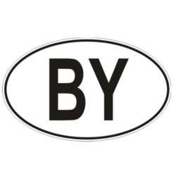 """Наклейка с надписью """"BY"""""""