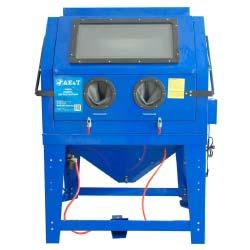 Пескоструйное оборудование – компактное устройство, состоящее из четырех основных элементов